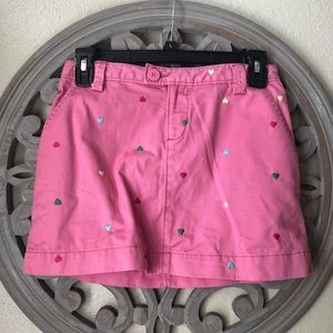🍬 Gap Heart embroidered pink skirt